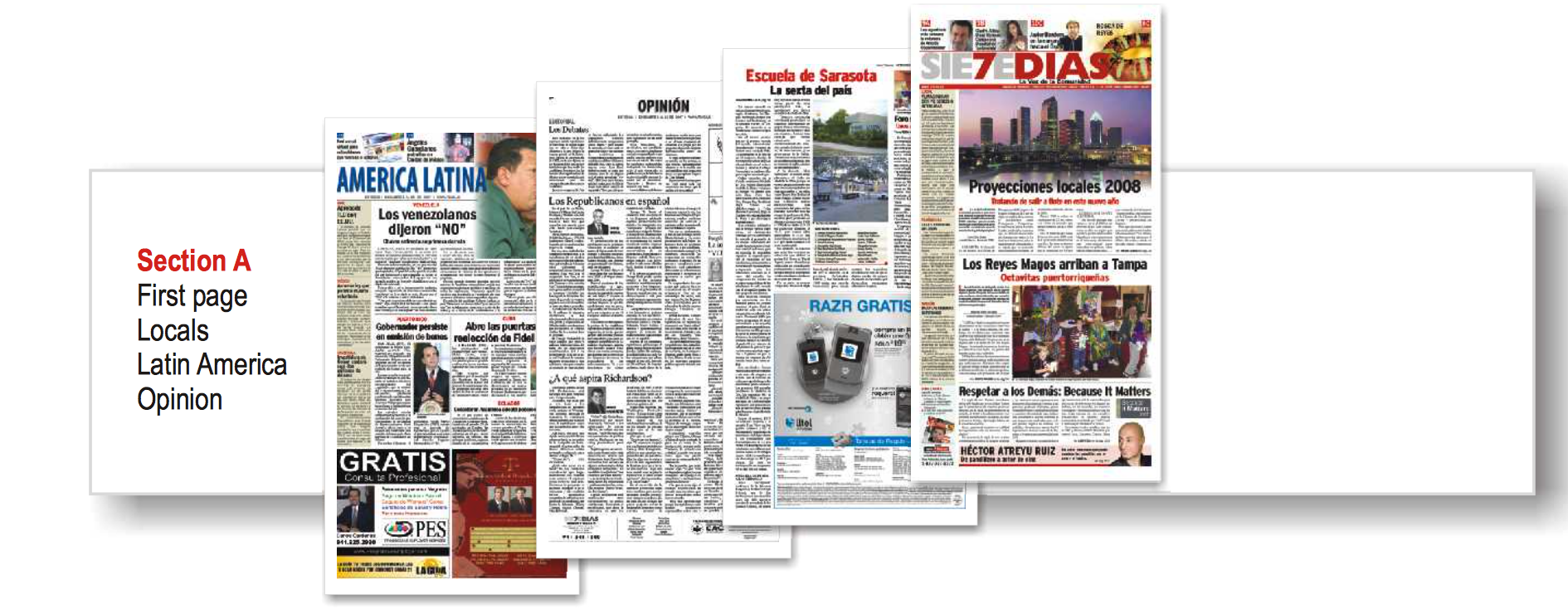 Our Sections Provide Entertainment and News to our Hispanic Readers in Tampa Bay
